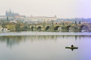 Prague - The Charles Bridge in Winter