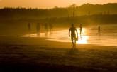 Sunset on Noosa Beach, Sunshine Coast, Queensland, Australia
